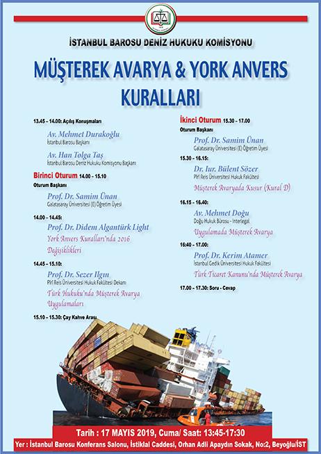 Müşterek Avarya & York Anvers Kuralları